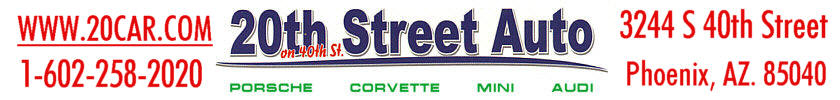 20th Street Auto Parts - Serving the Porsche-Corvette-Mini-Audi  Marques. Quality Used and Rust Free Auto Parts