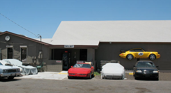 Here is the front of our New Showroom.  20th Street Auto Parts is an  Auto Recycler specializing in Porsche, Corvette, Mini and Audi cars and parts. If you own one, we probably have parts for it. Engines - Transmissions - Body Parts - Interior - Electrical - Glass. We also sell Select Aftermarket Products for these Automobiles. Shipping Worldwide Daily!